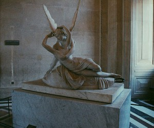 art, angel, and louvre image