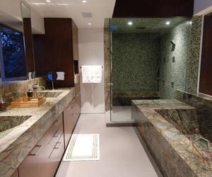bathroom, hallway, and life image