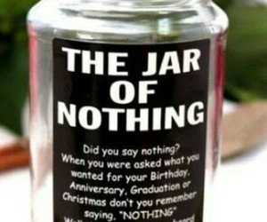 jar, geschenk, and nothing image
