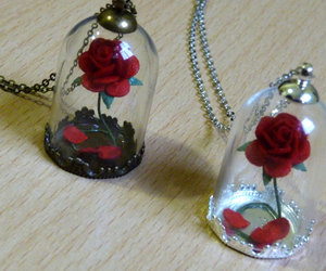 beauty and the beast, enchanted, and etsy image