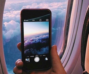 sky, travel, and iphone image