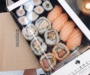 food, sushi, and yummy image