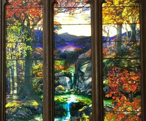 autumn, stained, and stained-glass image