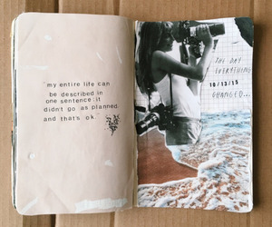 book, quotes, and journal image