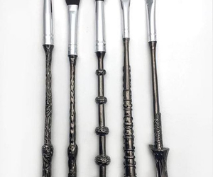 Brushes, harry potter, and make up image