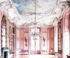 pink, architecture, and art image