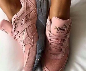 puma, sneakers, and pink image