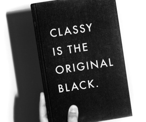black, classy, and book image