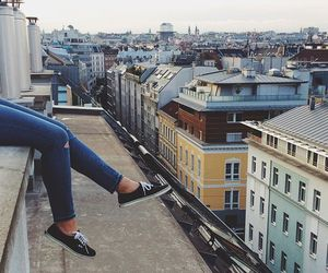 city, roof, and shoes image