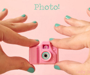 green, pink, and photo image