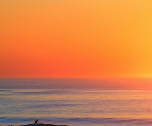 beach, landscapes, and sunset image