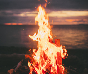 fire and beach image