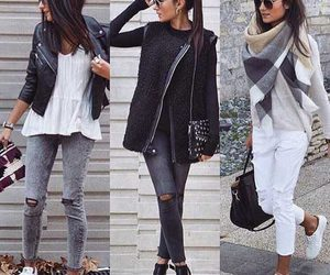 ankle boots, outfit, and sweater image
