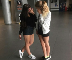 adidas, best friends, and black image