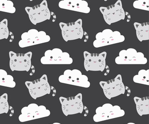 background, cloud, and neko image