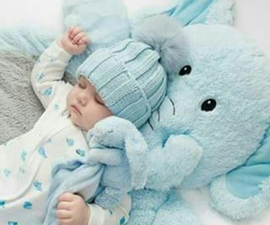 baby, blue, and boy image
