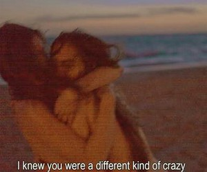 crazy, quotes, and beach image