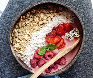 berries, smoothie bowl, and breakfast image