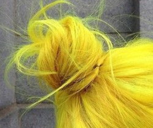 yellow and hair image