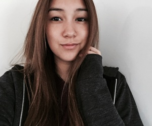 asian, gurl, and black sweater image
