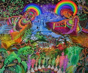 modern art, psychedelic art, and visual artist image