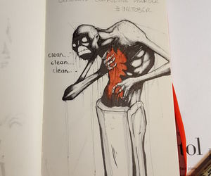 art, disorder, and draw image