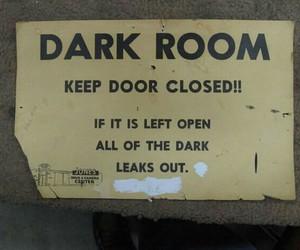 funny, dark, and dark room image