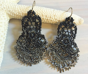 etsy, lace jewelry, and chandelier earrings image