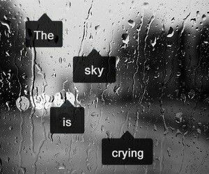sky, rain, and cry image