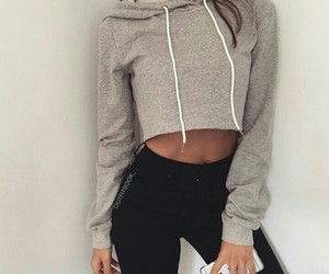 black, gray, and crop top image