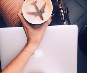 coffee, travel, and apple image