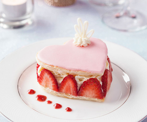 strawberry, sweet, and cake image