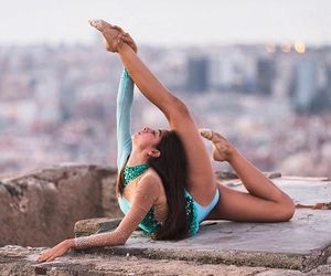 ballerina, flexible, and stretching image