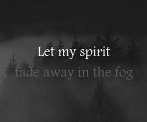 fog, spirit, and black image