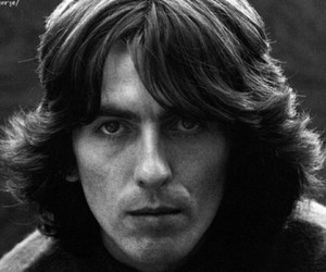 balck & white and george harrison image