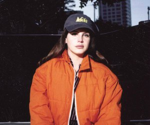 lana del rey, aesthetic, and orange image
