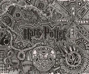 harry potter, hogwarts, and art image