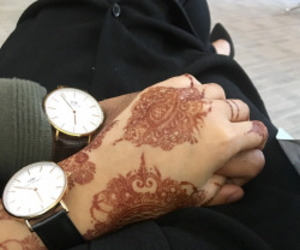 henna, hijab, and hennah image