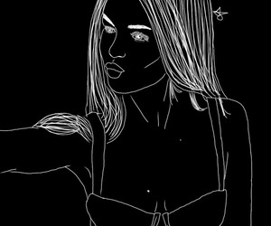 b&w, gomez, and outline image