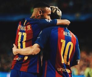 fc barcelona, neymar jr, and messi image