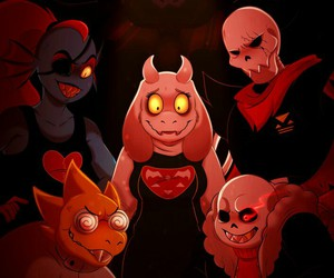 papyrus, undyne, and sans image