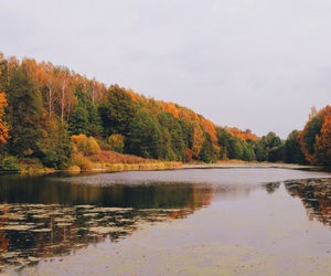 autumn, colors, and lake image