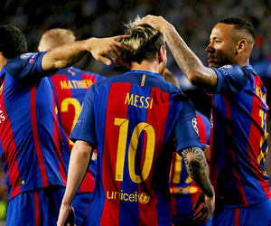 fc barcelona, messi, and neymessi image
