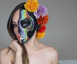 Halloween, makeup, and pretty image