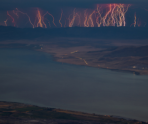 storm, nature, and lightning image
