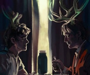 hannibal, will graham, and hannibal lecter image