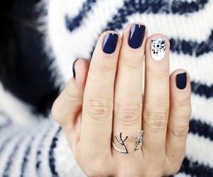 blue, fashion, and nail image