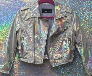 jacket, grunge, and holographic image