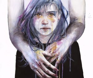 art, drawing, and agnes cecile image
