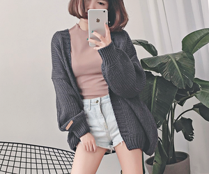 outfit, aesthetic, and cardigan image